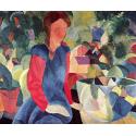 Reprodukcje obrazów Girl with a fish bowl - August Macke
