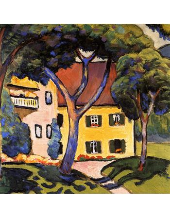 Reprodukcje obrazów House in a landscape - August Macke