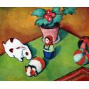 Reprodukcje obrazów Little Walter`s Toys - August Macke
