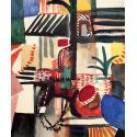 Reprodukcje obrazów Man with donkey - August Macke