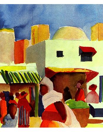Reprodukcje obrazów Market in Algiers - August Macke