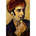 Reprodukcje obrazów Portrait of Franz Marc - August Macke