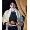 Reprodukcje obrazów Portrait with apples - August Macke
