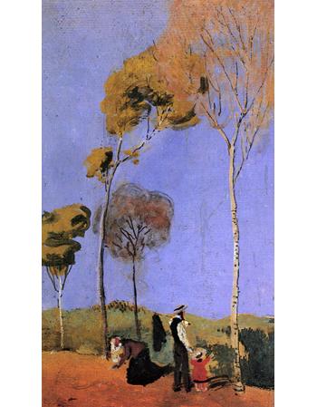 Reprodukcje obrazów Stroller - August Macke