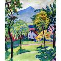 Reprodukcje obrazów Tegernsee Landscape - August Macke