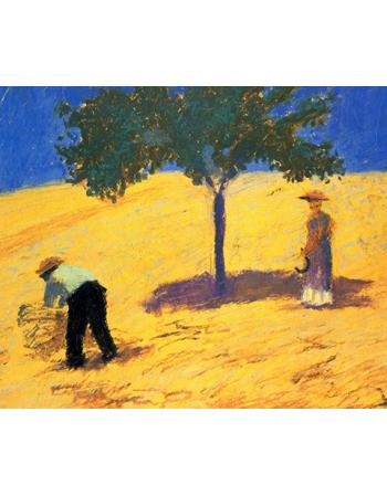 Reprodukcje obrazów Tree in the cornfield - August Macke