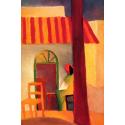 Reprodukcje obrazów Turkish cafe I - August Macke
