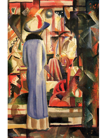 Reprodukcje obrazów Woman in front of a large illuminated window - August Macke