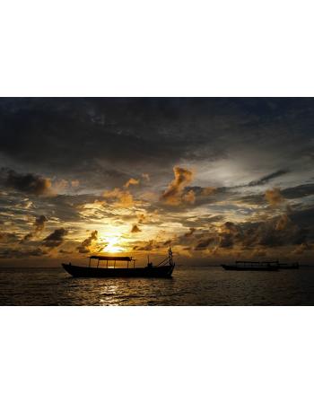 Kambodża - Zachód słońca