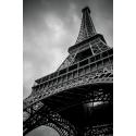 Wieża Eiffla w czerni i bieli