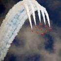 Air Show - dymiące samoloty