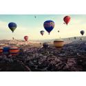 Pokaz balonów w Kapadocji