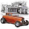 Malowany rysunek z samochodem