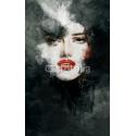 Malowana twarz kobiety