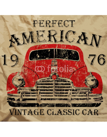 Klasyczny vintage samochód