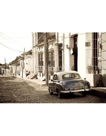 Antyczny samochód na Kubie