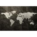 Kamienna mapa świata