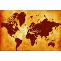 Mapa świata w afrykańskich kolorach