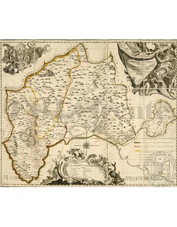 Stara mapa topograficzna Hiszpanii