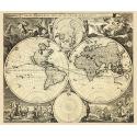Stara Mapa Świata Nicolao Visscher