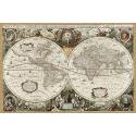 Hondius - starożytna mapa świata