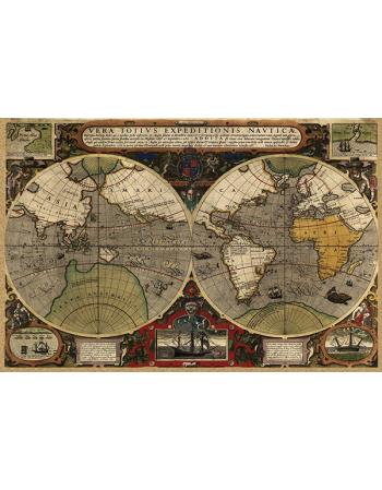 Stara Mapa Świata - Hondius