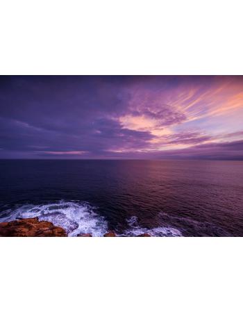 Morze z zachodem słońca