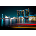 Oświetlony Singapur