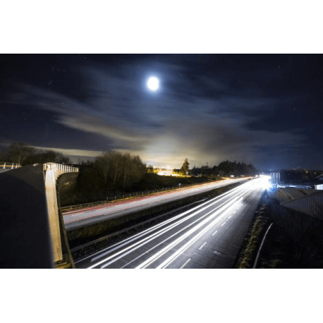 Obraz na płótnie droga w Midleton nocą