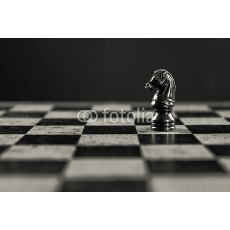 Obraz na płótnie szachownica z koniem