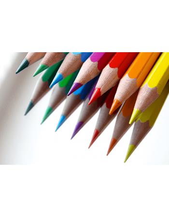 Obraz na płótnie kolorowe kredki