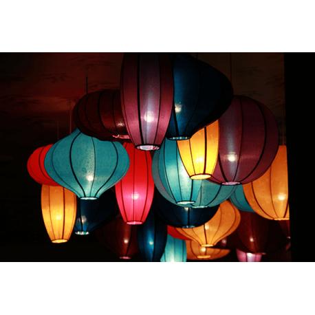 Obraz na płótnie świecące kolorowe lampiony
