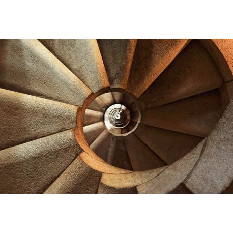 Obraz na płótnie kamienne kręcone schody