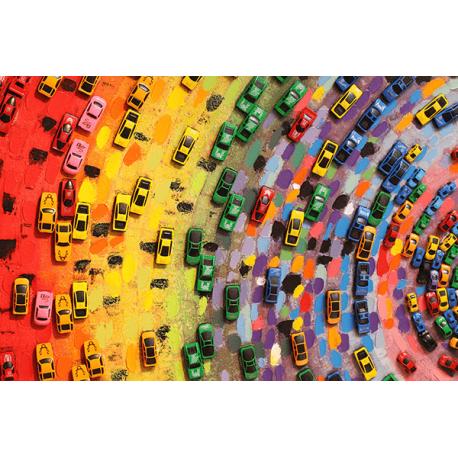 Obraz na płótnie kolorowe samochody