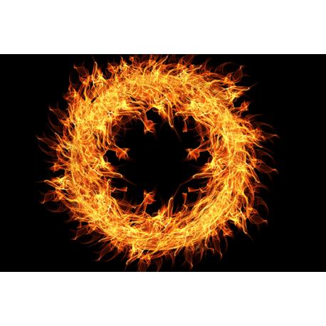 Obraz na płótnie palące koło