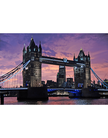 Obraz na płótnie Tower Bridge o zachodzie słońca