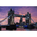 Tower Bridge o zachodzie słońca