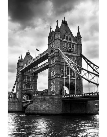 Czarno biały Tower Bridge