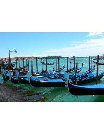 Obraz na płótnie Łódki w Wenecji