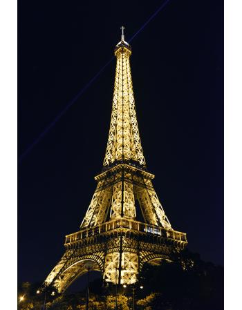 Obraz na płótnie Oświetlona Wieża Eiffla