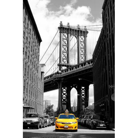 Obraz na płótnie Żółte Taxi - Brooklyn Bridge