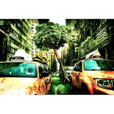 Obraz na płótnie Żółte Taxi - HDR