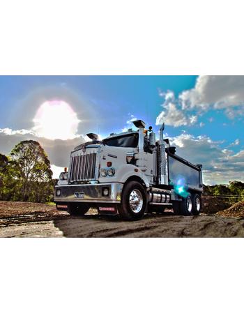 Obrazy na płótnie Ciężarówka - HDR