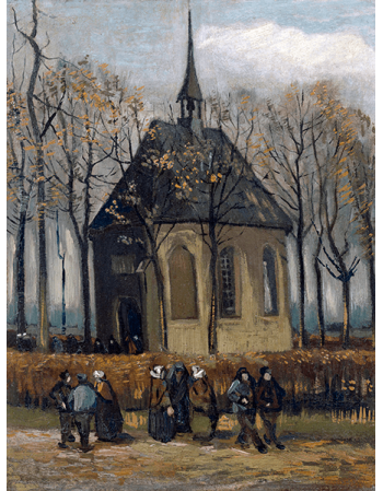 Reprodukcje obrazów Vincent van Gogh Congregation Leaving the Reformed Church in Nuenen