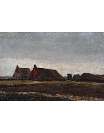 Reprodukcje obrazów Cottages - Vincent van Gogh