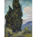 Reprodukcje obrazów Cypresses - Vincent van Gogh