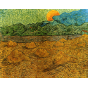 Reprodukcje obrazów Evening landscape with rising moon - Vincent van Gogh