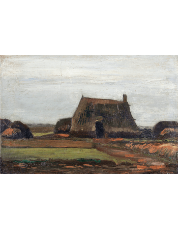 Reprodukcje obrazów Vincent van Gogh Farm with Stacks of Peat