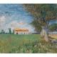 Reprodukcje obrazów Vincent van Gogh Farmhouse in a Wheatfield