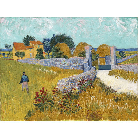 Reprodukcje obrazów Vincent van Gogh Farmhouse in Provence